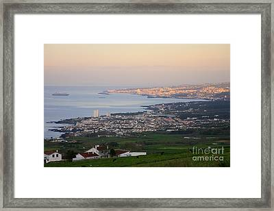 Ponta Delgada And Lagoa Framed Print by Gaspar Avila