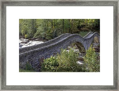 Ponte Dei Salti - Lavertezzo Framed Print by Joana Kruse