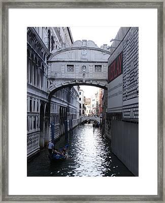 Ponte Dei Sospire Framed Print