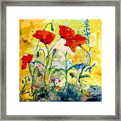Poppies Provencale Framed Print by Ginette Callaway