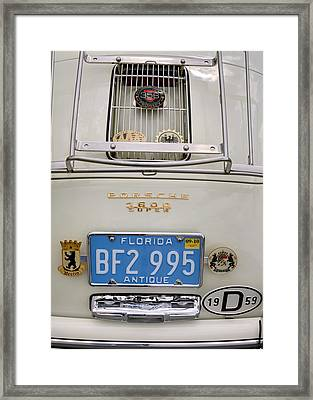 Porsche 1600 Super 1959 Rear View. Miami Framed Print