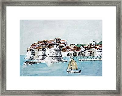 Port Of Dubrovnik Framed Print by Joseph Hendrix