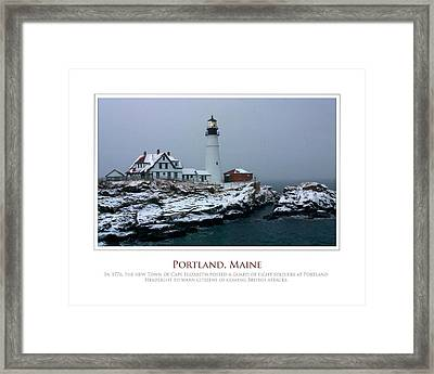 Portland Headlight Framed Print by Jim McDonald Photography