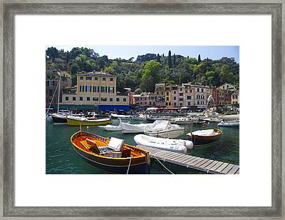 Portofino In The Italian Riviera In Liguria Italy Framed Print by David Smith