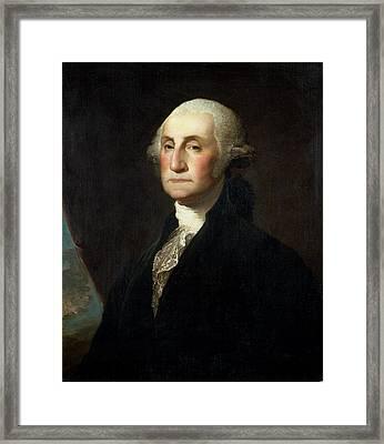 Portrait Of George Washington Framed Print by Gilbert Stuart
