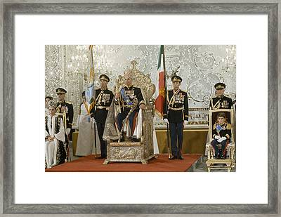 Portrait Of The Shah Of Iran Taken Framed Print by James L. Stanfield