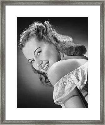 Portrait Of Woman Indoor Framed Print by George Marks
