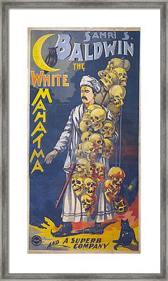 Poster For Stage And Magic Show Framed Print by Everett
