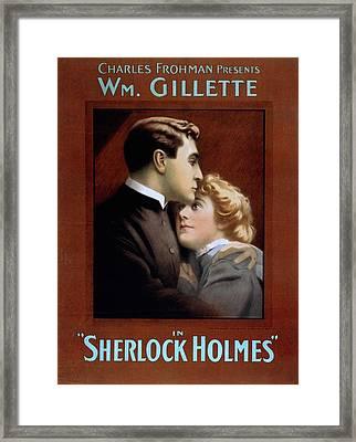 Poster For William Gillette 1853-1937 Framed Print by Everett