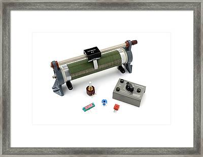 Potentiometers Framed Print by Trevor Clifford Photography