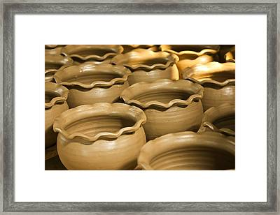 Pottery In Thailand  Framed Print by Chatchawin Jampapha