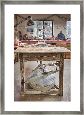 Pottery Studio Hockinson Washington Usa Framed Print by Bryan Mullennix