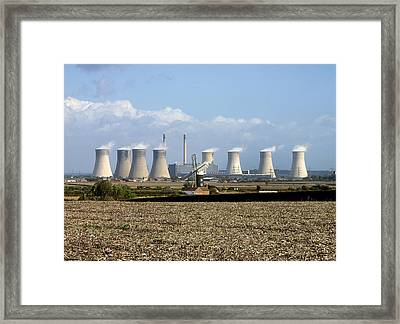 Power Station Cooling Towers Framed Print by Martin Bond