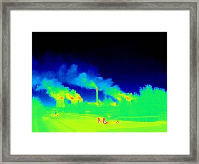 Power Station, Thermogram Framed Print by Tony Mcconnell