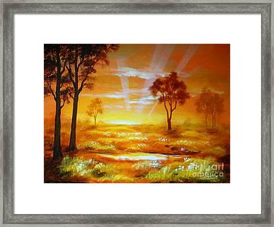 Prairie  Dawn Framed Print by Shasta Eone