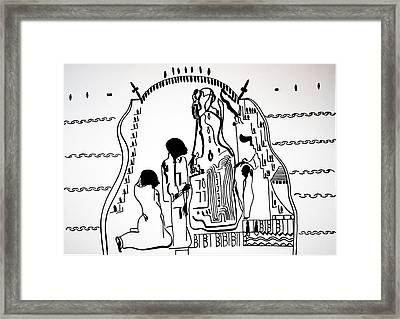 Presentation Of Jesus In The Temple Framed Print by Gloria Ssali