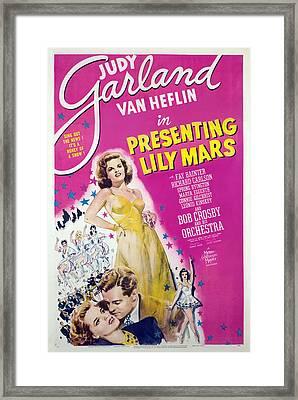 Presenting Lily Mars, Judy Garland, Van Framed Print