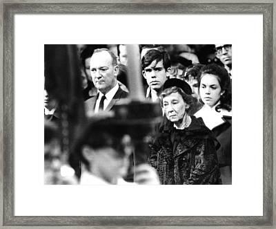 President Eisenhowers Funeral. Former Framed Print by Everett