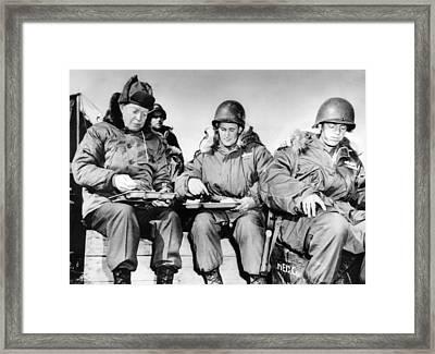 President-elect Dwight Eisenhower Framed Print by Everett