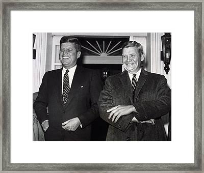 President-elect John F. Kennedy Framed Print by Everett
