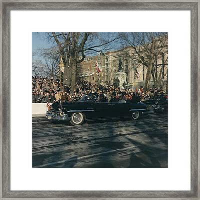 President John F. Kennedy And First Framed Print by Everett