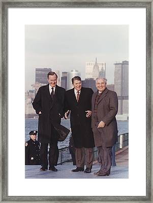 President Reagan And Vice-president Framed Print