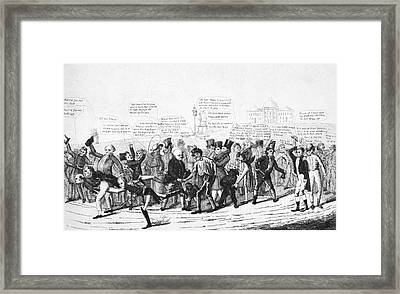 Presidential Campaign, 1824 Framed Print
