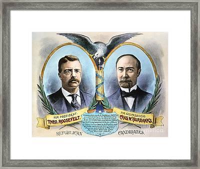Presidential Campaign, 1904 Framed Print