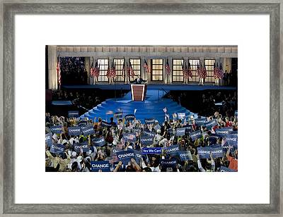 Presidential Candidate Barack Obama Framed Print by Everett