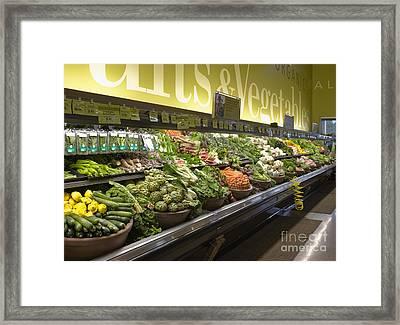 Produce Aisle Framed Print