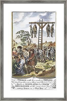 Protestant Martyrs, 1563 Framed Print by Granger
