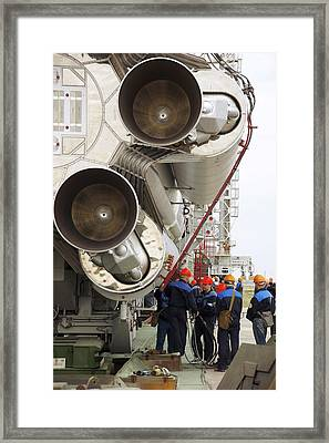 Proton-m Rocket Before Launch Framed Print by Ria Novosti