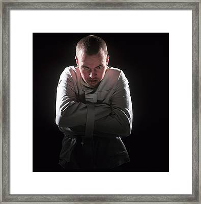Psychiatric Patient Framed Print by Kevin Curtis