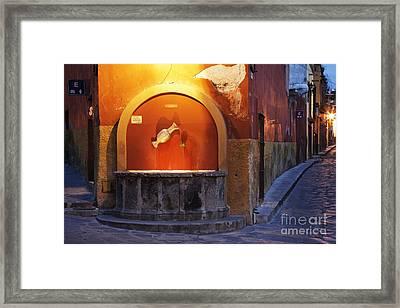 Public Fountain Framed Print