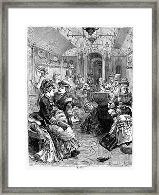 Pullman Car, 1876 Framed Print by Granger