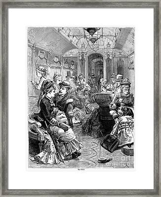 Pullman Car, 1876 Framed Print