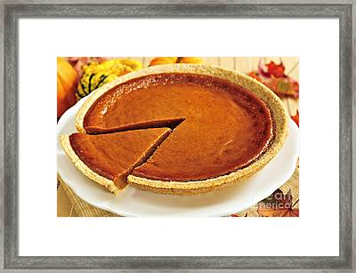 Pumpkin Pie Framed Print