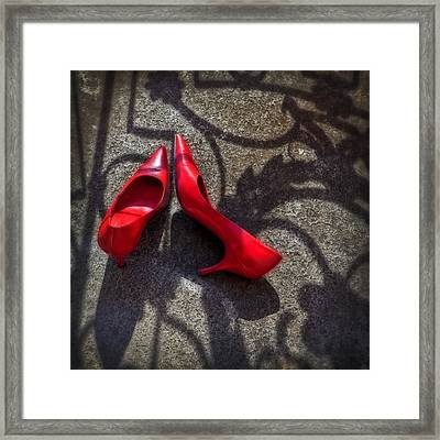 Pumps Framed Print