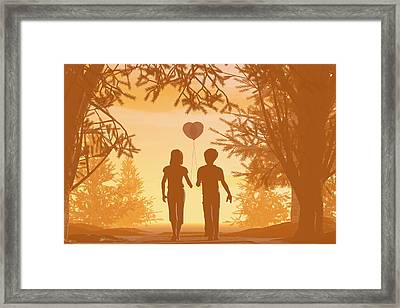 Puppy Love Framed Print by Carol and Mike Werner