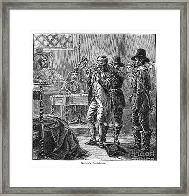 Puritan Punishment Framed Print by Granger