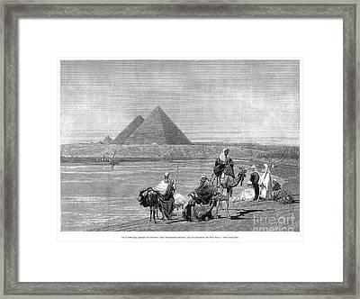 Pyramids At Giza, 1882 Framed Print by Granger