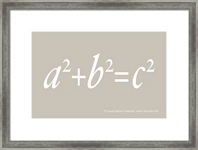 Pythagoras Maths Equation Framed Print by Michael Tompsett
