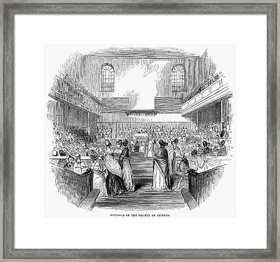 Quaker Meeting, 1843 Framed Print