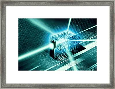 Quantum Computer Core Framed Print by Richard Kail