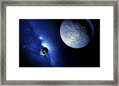 Quaoar In The Kuiper Belt Framed Print by Detlev Van Ravenswaay