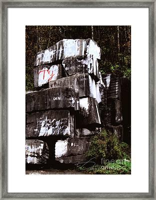 Quarry Face Framed Print by Danuta Bennett