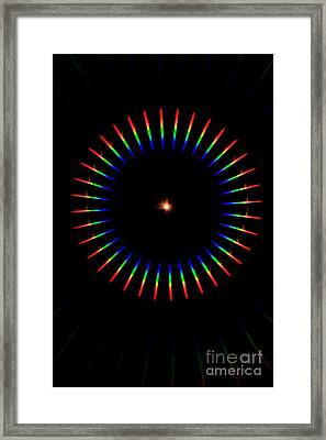 Quicklime Spectra Limelight Framed Print by Ted Kinsman