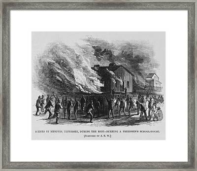 Race Riot In Memphis, Tennessee, May 2 Framed Print by Everett