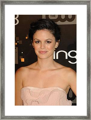 Rachel Bilson At Arrivals For Bing Framed Print by Everett