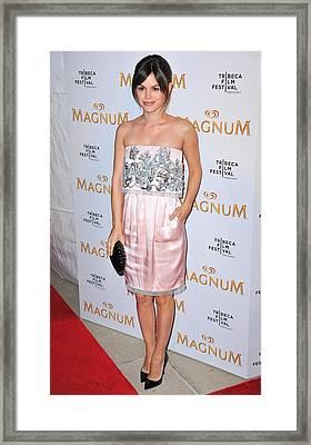 Rachel Bilson Wearing A Chanel Couture Framed Print by Everett